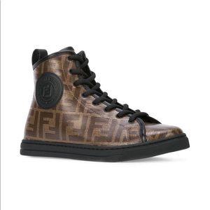 Fendi Logo print High cut shoes